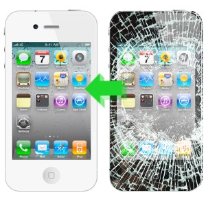 smashed iPhone 4 black to iphone 4 white