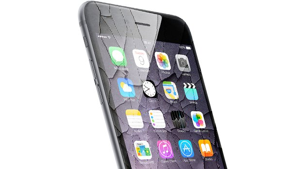 iphone 6 with smashed screen