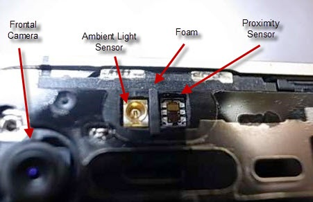 iPhone 4 proximitry sensor location with ambient Light Sensor