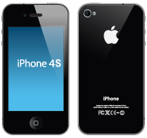 Apple iPhone 4S that need a new screen thats broken and needs a new battery