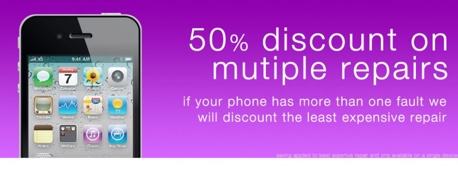 50 percent discount on mutiple repairs on the same device.